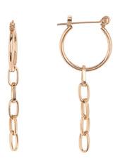 Area Chain Hoop Earrings