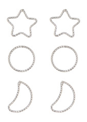 Area Constellation Wire Earrings Set - Set of 3