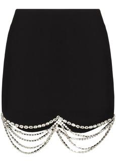 Area crystal-embellished mini skirt