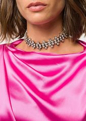 Area crystal choker necklace