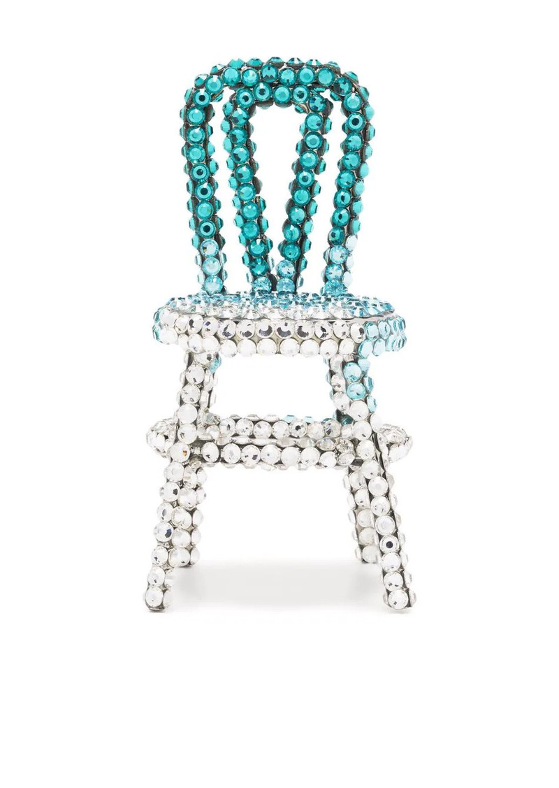 Area crystal-embellished chair earring