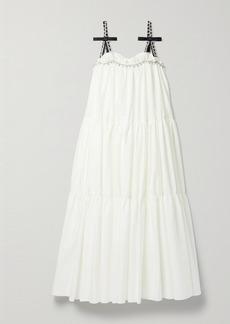 Area Crystal-embellished Cotton-blend Poplin Maxi Dress