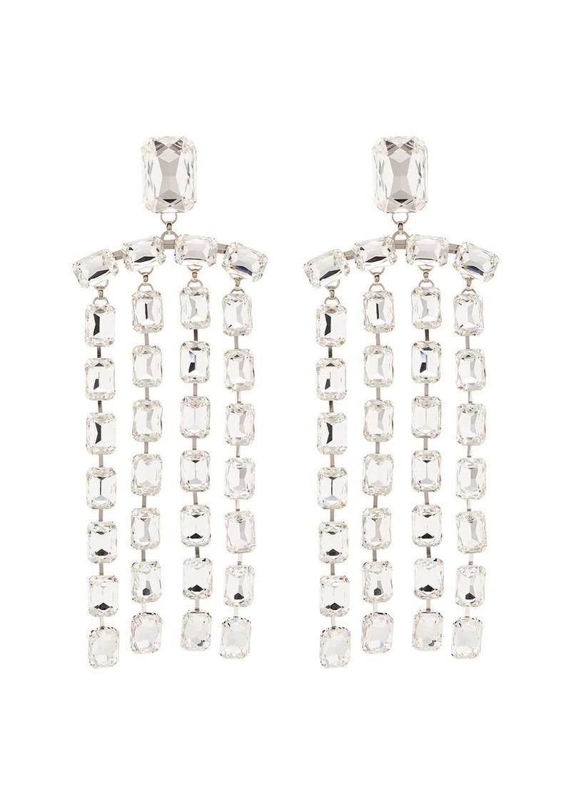Area crystal-embellished drop earrings