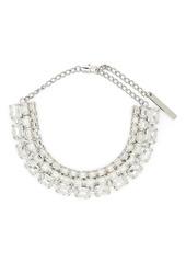 Area crystal embellished necklace