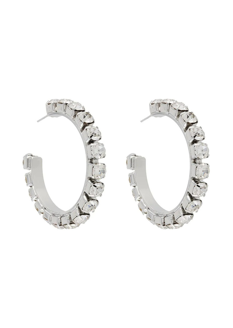 Area crystal hoop earrings