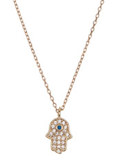 Area CZ Accented Mixed Spiritual Charms 3-Piece  Necklace Set