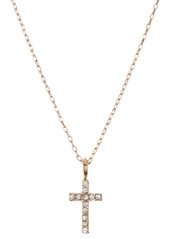 Area CZ Cross & Mixed Charm 3-Piece Necklace Set