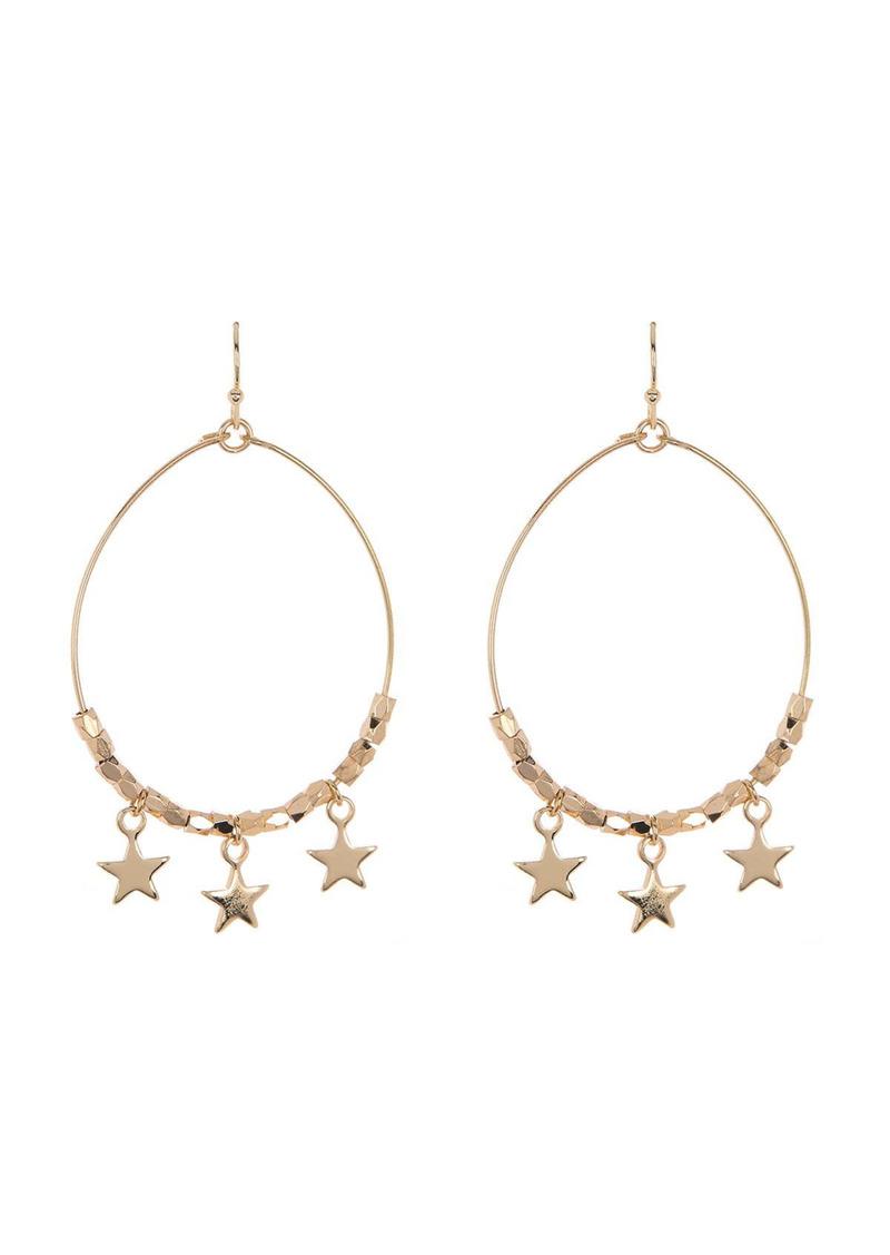 Area Delicate Star Hoop Earrings