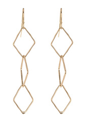 Area Diamond Linear Link Earrings