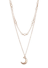Area Double Layer Short Moon Necklace