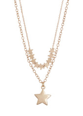 Area Double Layer Star Necklace