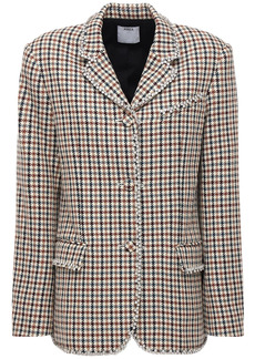 Area Embellished Houndstooth Blazer