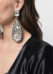 Area embellished oversized earrings