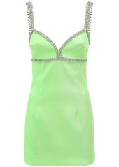 Area Embellished Stretch Lamé Mini Dress