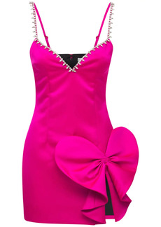 Area Embellished Sweetheart Satin Mini Dress