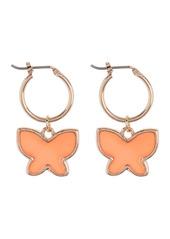 Area Enamel Butterfly Huggie Earrings
