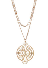 Area Filigree Double Layer Necklace