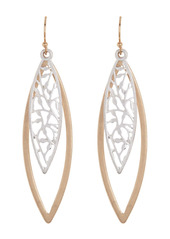 Area Filigree Two Tone Oval Earrings