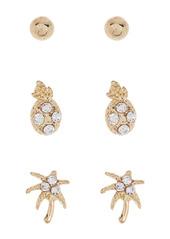 Area Fine Stud Earrings - Pack of 6