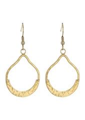 Area Flat Hammered Hoop Earrings
