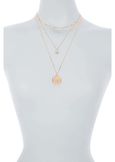 Area Flower Layered Necklace Set