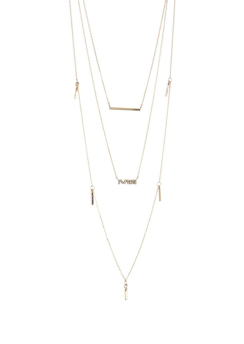 Area Fringe Layered Necklace Set