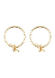 Area Front Facing Ribbon Styled Hoop Stud Earrings