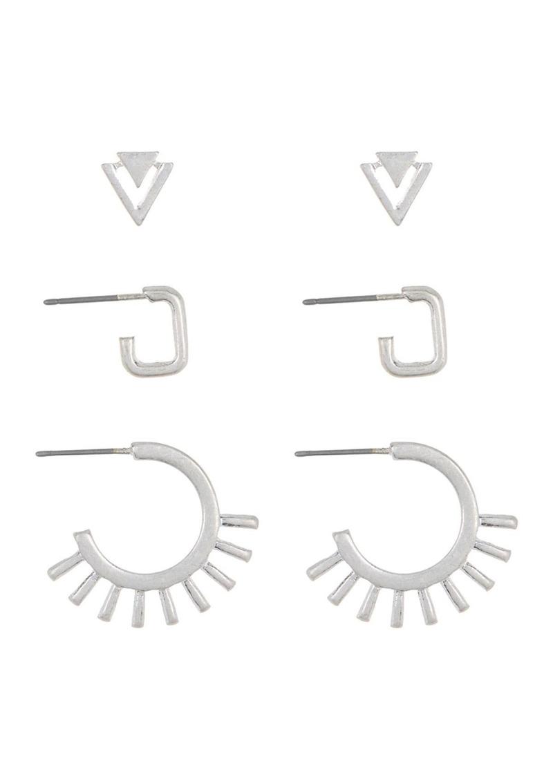 Area Geometric Earrings Set - Set of 3