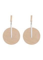 Area Gold Silver Bar Circle Statement Earrings