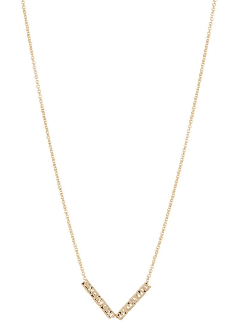 Area Hammered Arrow Necklace