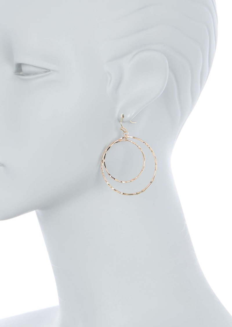 Area Hammered Circle Earrings