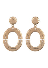 Area Hammered Oblong Earring