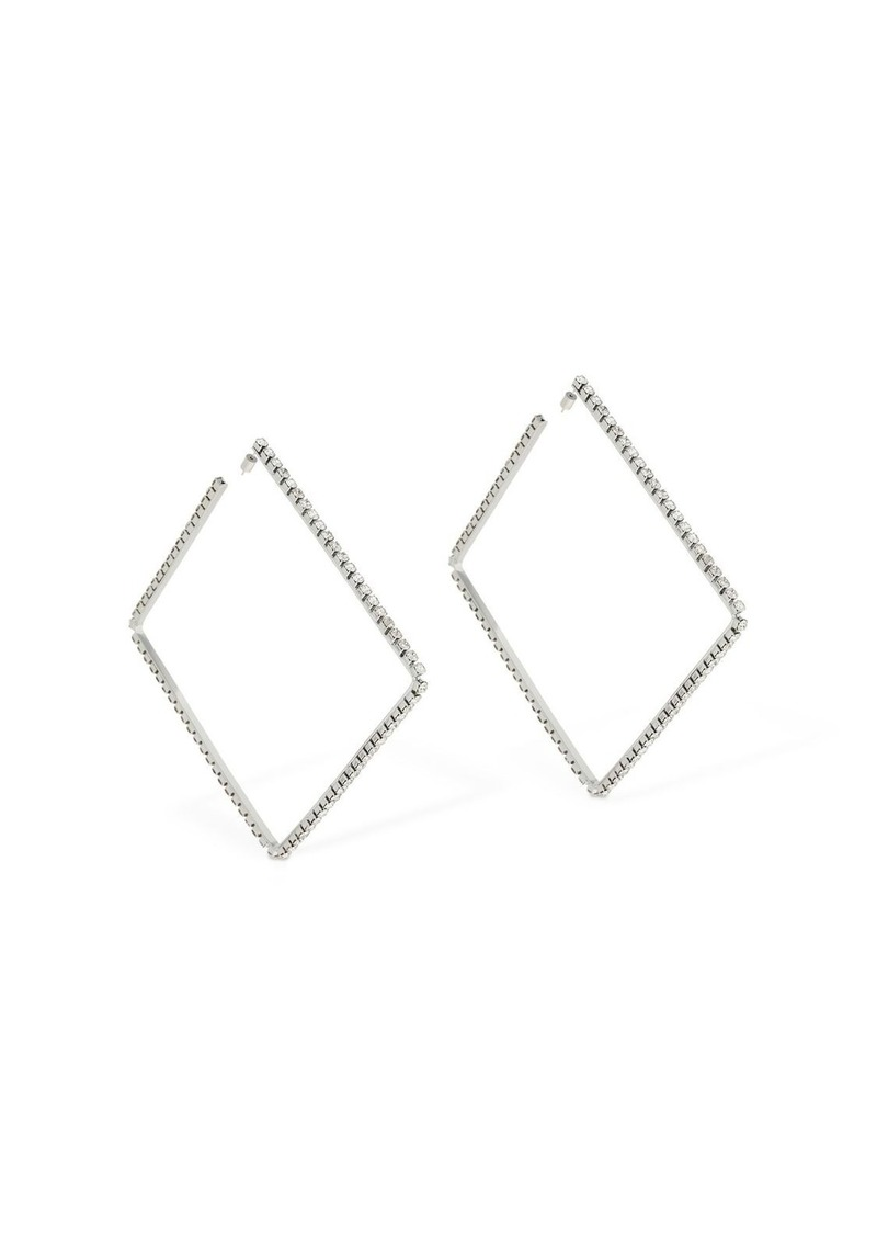 """Area """"Large 4"""""""" Classic Square Hoop Earrings"""""""
