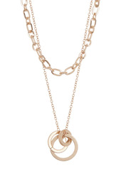 Area Link Drop Circles Chain Necklace