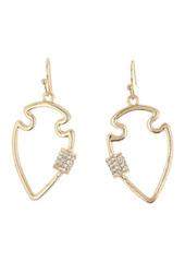 Area Mini Arrow Crystal Bling Earrings