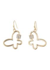 Area Mini Butterfly Crystal Bling Earrings