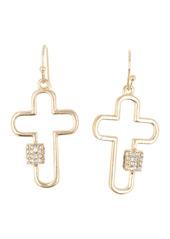 Area Mini Cross Crystal Bling Earrings