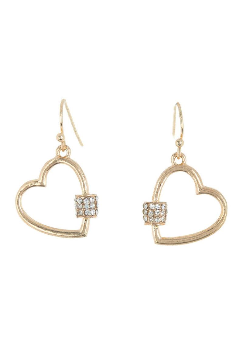 Area Mini Heart Crystal Bling Earrings