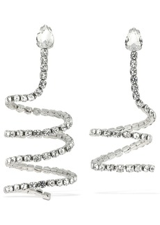 Area Mismatched Crystal Spiral Earrings