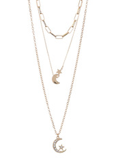 Area Moons Layered Necklace Set