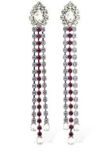 Area Multicolor Crystal Fringe Drop Earrings