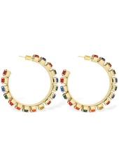 Area Multicolor Crystal Hoop Earrings