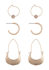 Area Novelty Earrings Set - Set of 3