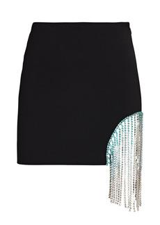 Area Ombré Crystal Fringe Mini Skirt