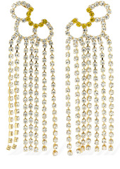 Area Petal Crystal Chandelier Ear Jackets