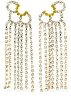 Area Petal Crystal Chandelier Ear Jackets