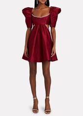 Area Puff Sleeve Cut-Out Mini Dress