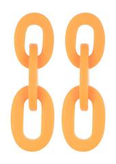 Area Resin Link Drop Earrings
