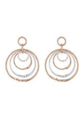 Area Round Two Tone Drop Earrings