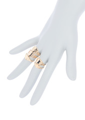 Area Signet Stackable Ring Set